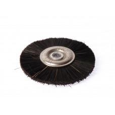 Černý kovový kartáč, průměr 50 mm. Polyrapid