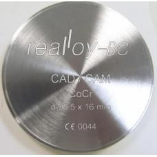 Realloy BC - frézovací kotouč CoCr 98,5 x 16 mm