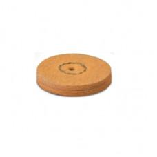 Kamzíková kůže s pemzou 22 mm oranžová (1 krok) EVE