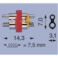 Levý šroub D-14 2-bar