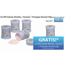 4xIPS InLine Dentin / Incisal / Transpa Incisal 20g