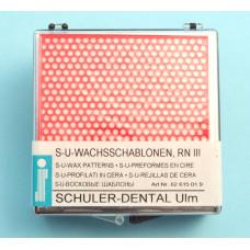 Šablony zubního vosku RN III Schuler