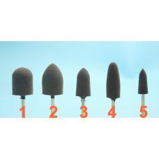 Šedé akrylové gumy